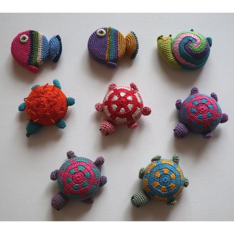 【TOMBO】ベトナム雑貨★可愛い形のメジャー 亀・魚・カタツムリ 編み物