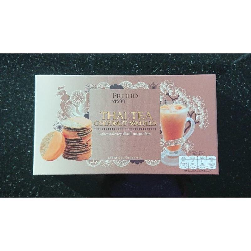 タイお土産★PROUD Thai Tea Coconut Waffles【プラウド タイ ティー ココナッツ ワッフル】