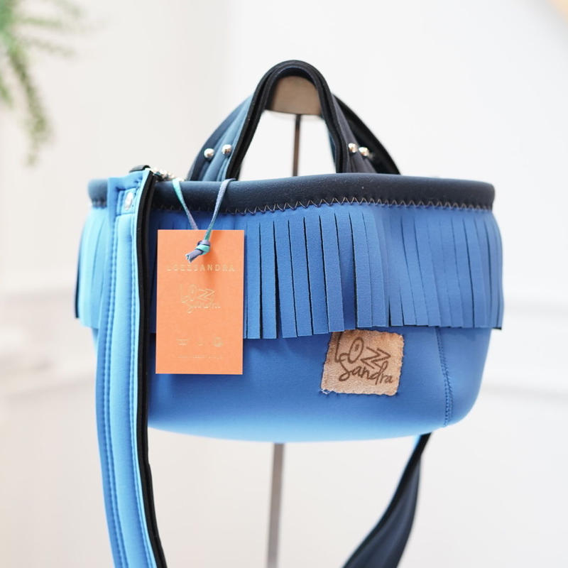 Lozz Sandra/fringeminitotebag/Blue fringe