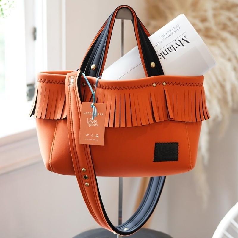NEW_Lozz Sandra/Fringetotebag<Orange>