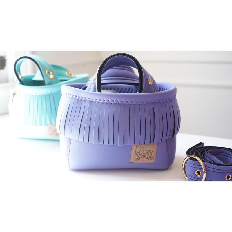 Lozz Sandra/fringeminitotebag/Lavender