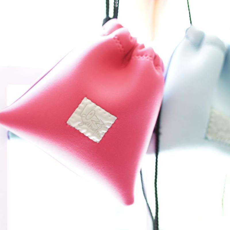 Lozzsandra/bi-colorポーチneonpink x rouge(ロング)
