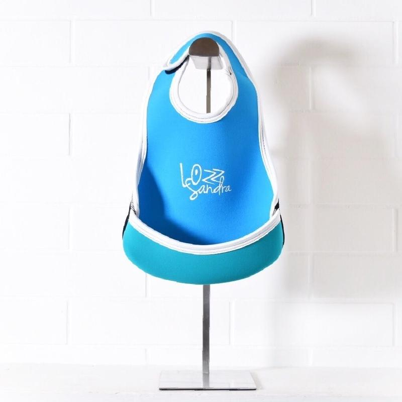 Lozz Sandra/BABY BIB/Aqua blue x Turquoise blue