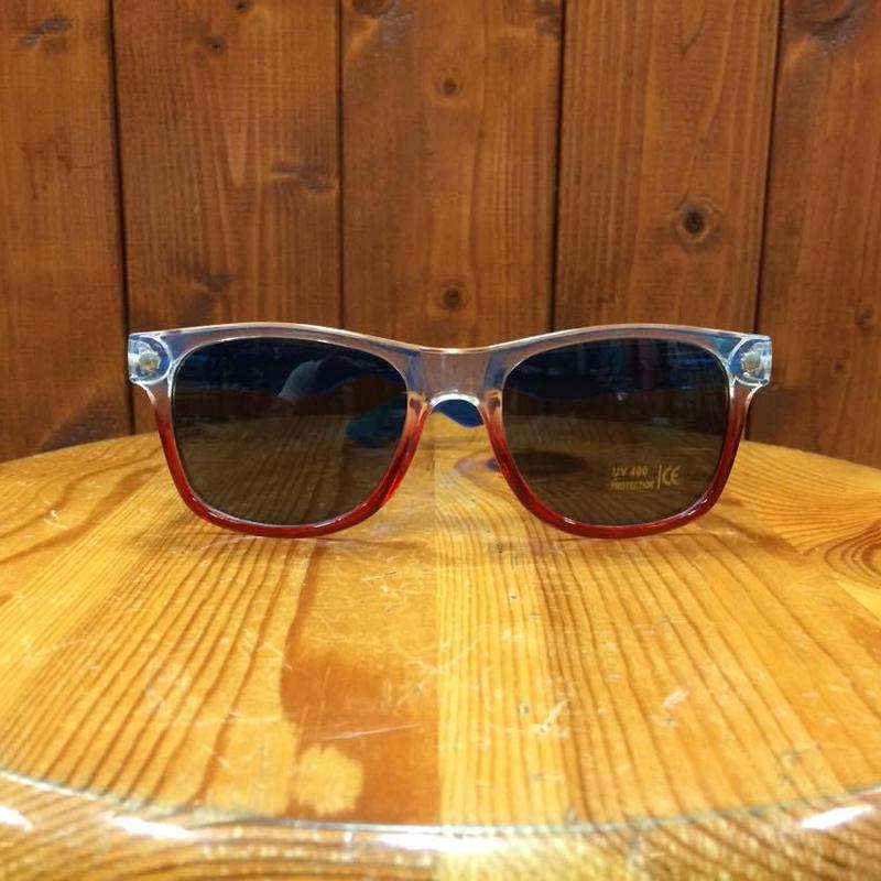 GLASSY(グラッシー) LEONARD CLEAR RED BLUE/BLACKレンズ サングラス