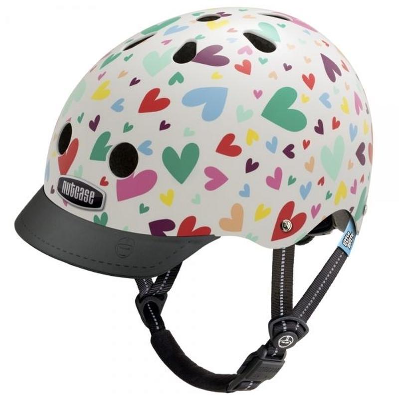 NUTCASE ヘルメットLITTLE NUTTY Happy Hearts (ハッピーハーツ) サイズXS
