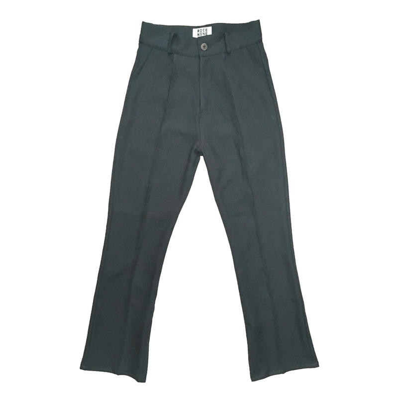 BOOT CUT STA-PREST PANTS (GREY)