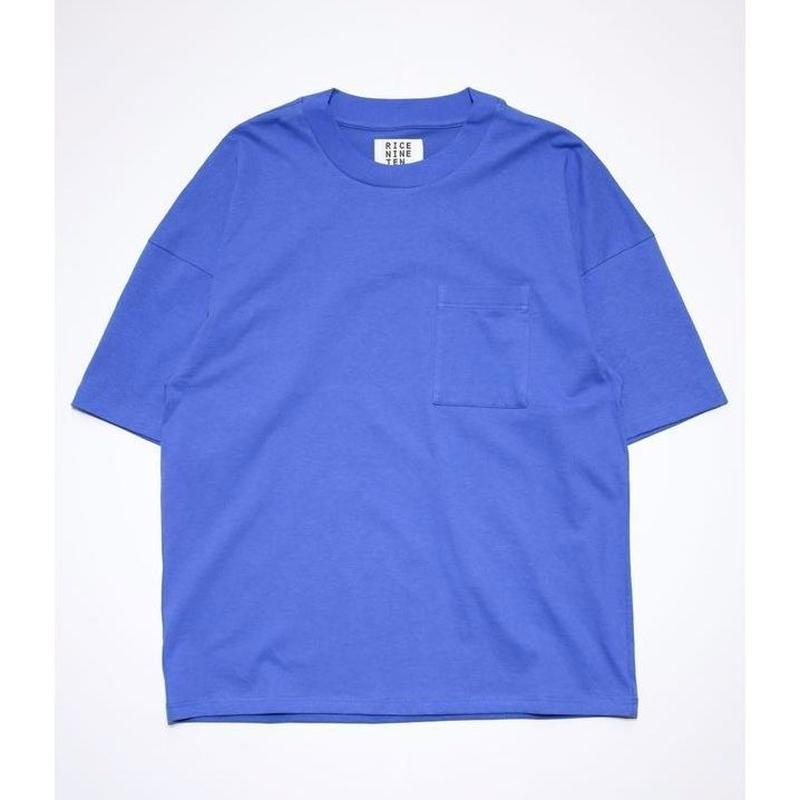 OUTSIZE DROP POCKET TEE  (BLUE)