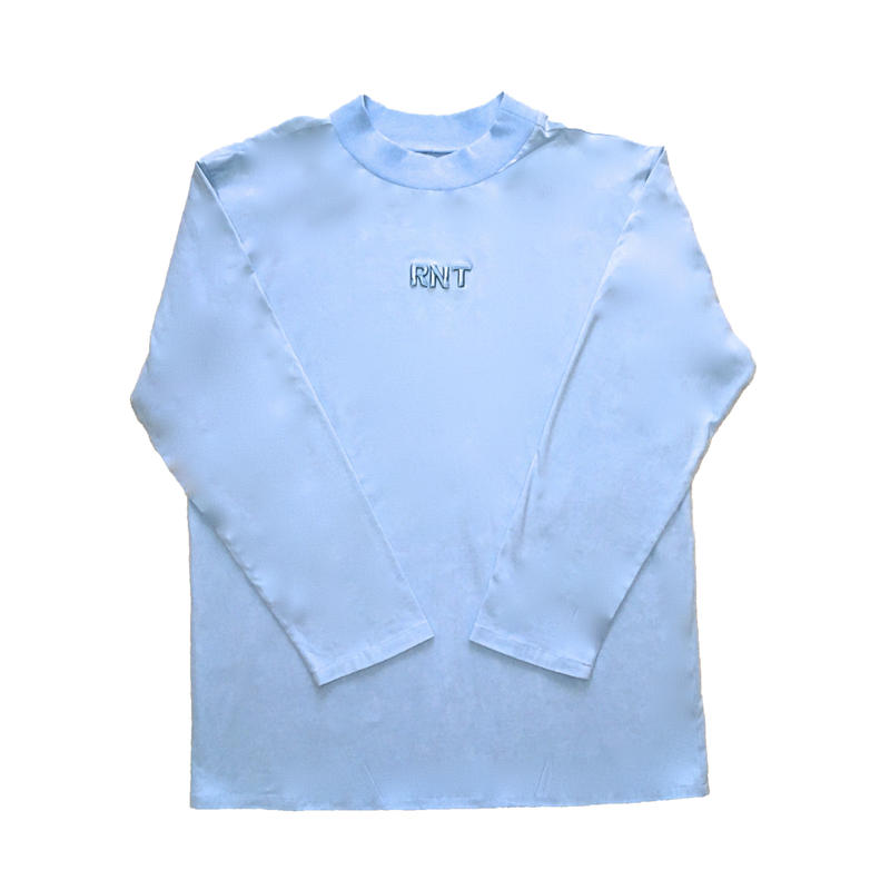 HIGH NECK 3D RNT L/S TEE   (LIGHT BLUE)