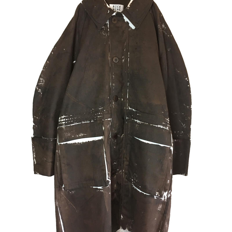 HAND PAINT COAT (BROWN)