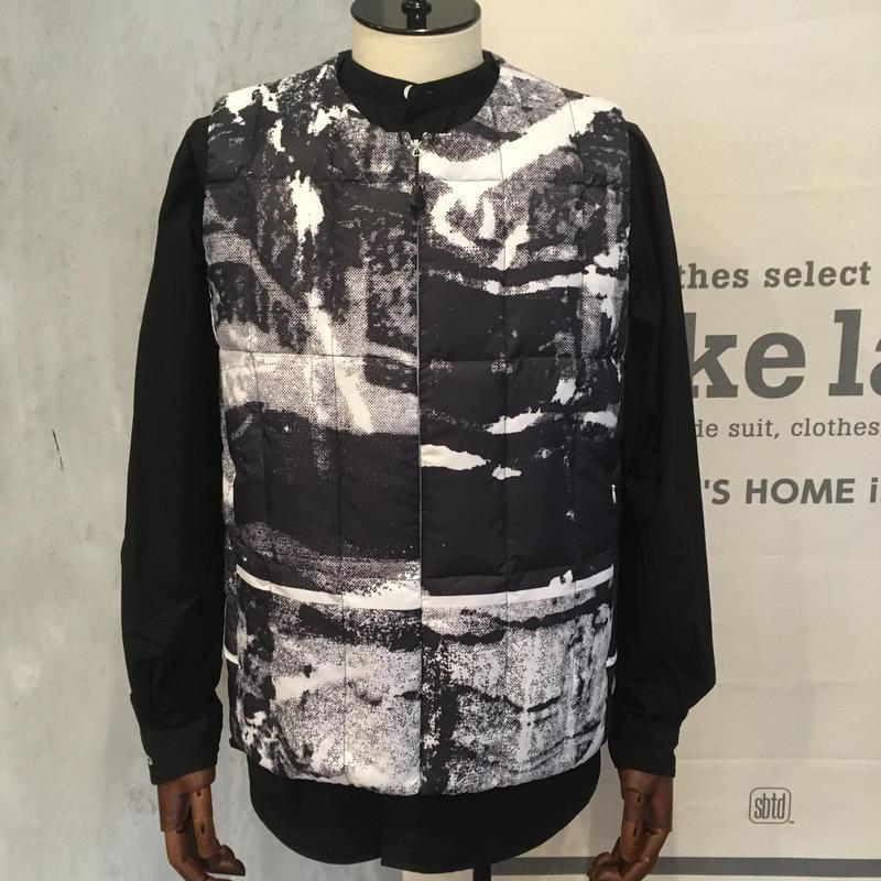 [snow peak] RY Printed Middle Down Vest