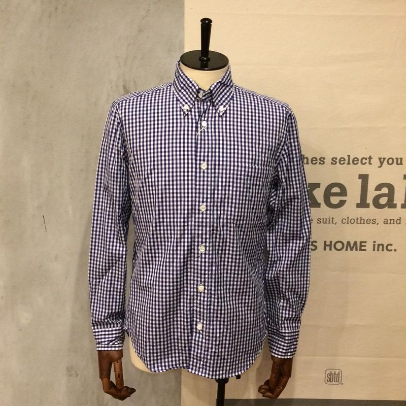 [MANUAL ALPHABET] GINGHAM B.D. SHIRT