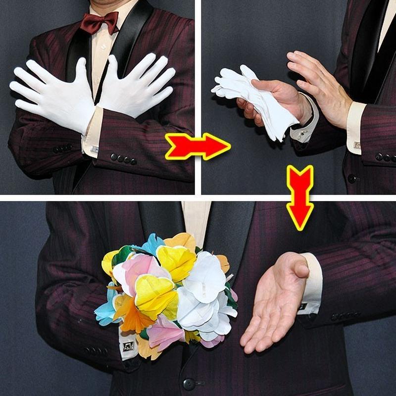 ★手品・マジック★ DPG花束と白い手袋★T7211