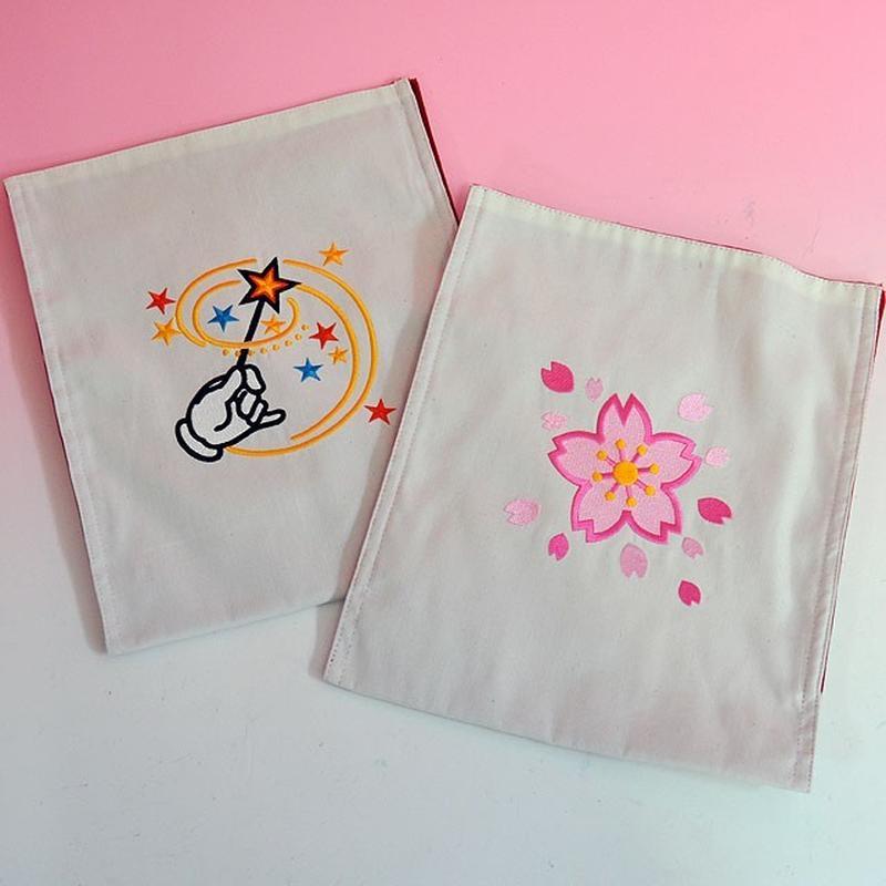 ★手品・マジック★ 刺繍入りチェンジバッグ(桜・マジック2種セット)★T7141