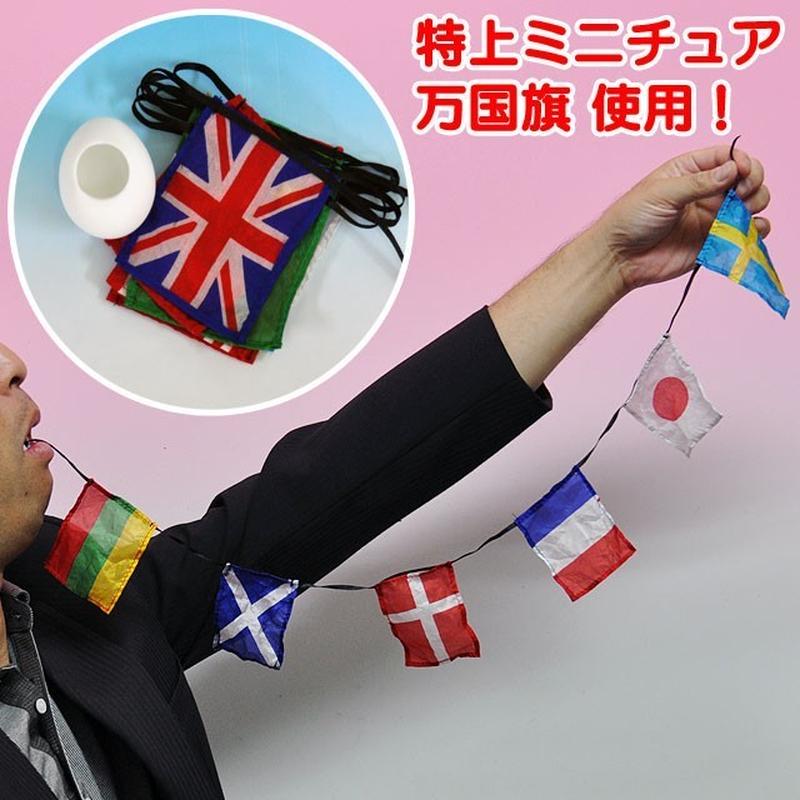 ★手品・マジック★特上口から万国旗セット★A1712