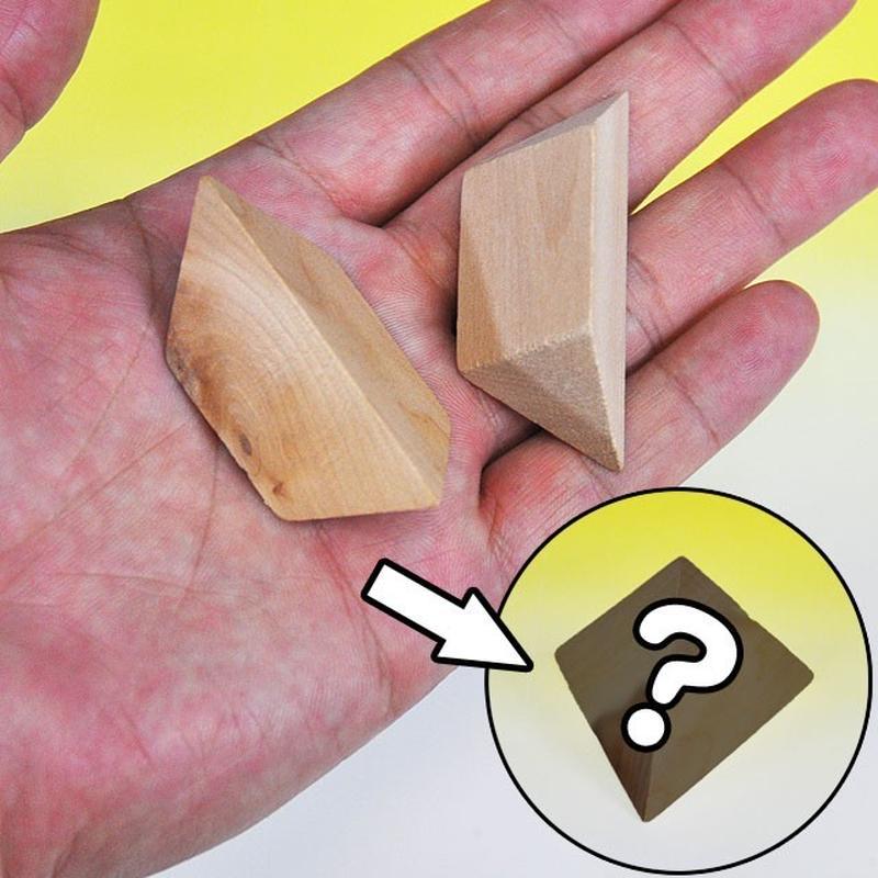 ★手品・マジック★ 木製ピラミッドパズル★W9281