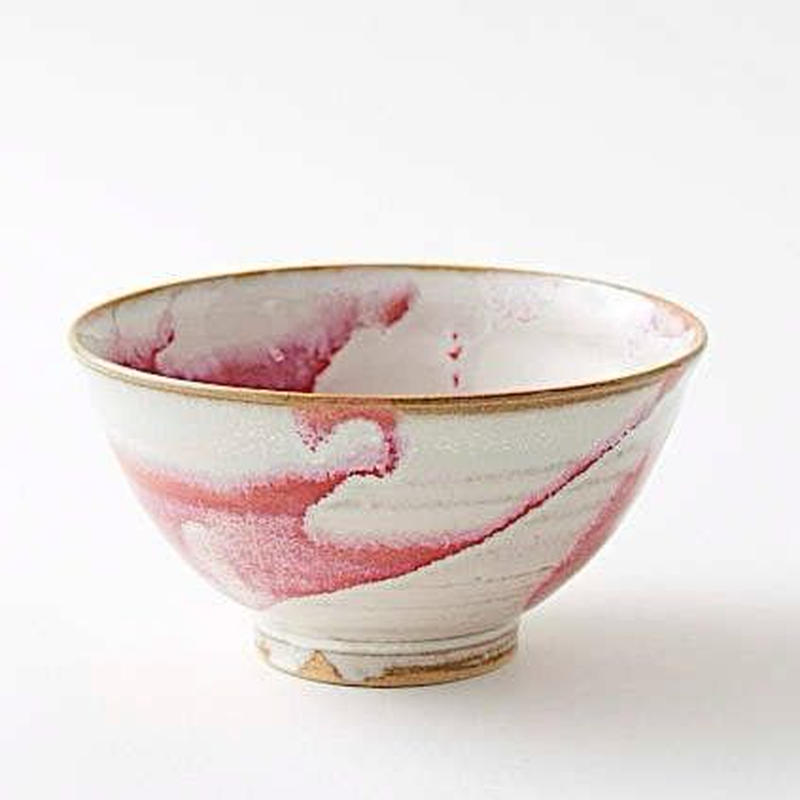 陶器 萩焼 和食器 作家 和モダン カフェ 飯碗 ご飯茶碗 小鉢 マーブル 赤