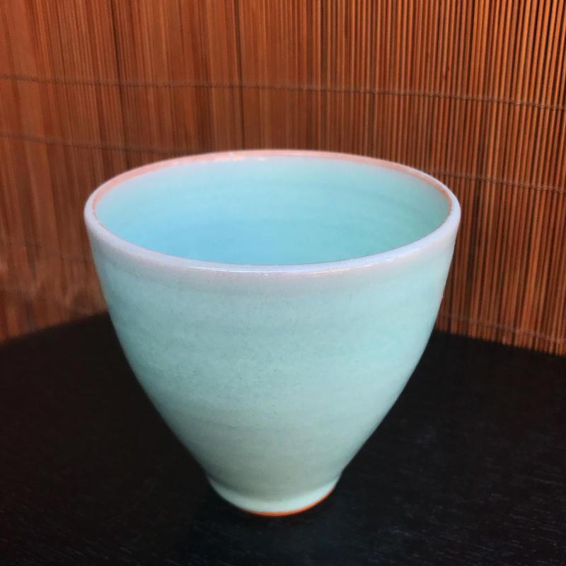 陶器 萩焼 和食器 作家 和モダン カフェ フリーカップ 湯呑 小鉢 茶碗 器 青磁 ブルー 翡翠色
