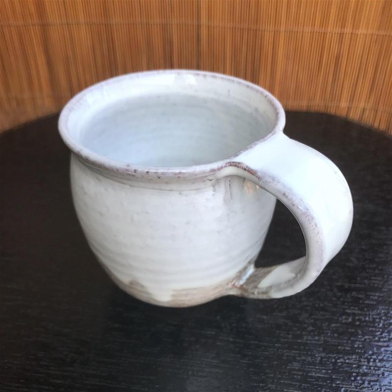 陶器 萩焼 和食器 作家 和モダン カフェ 白萩 コーヒー マグカップ 白 C10新
