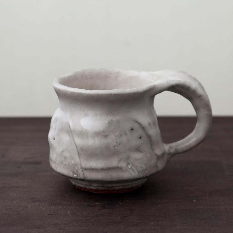 ◇◆陶器 萩焼 輪花◇◆ マグカップ c-19 河野聡 作