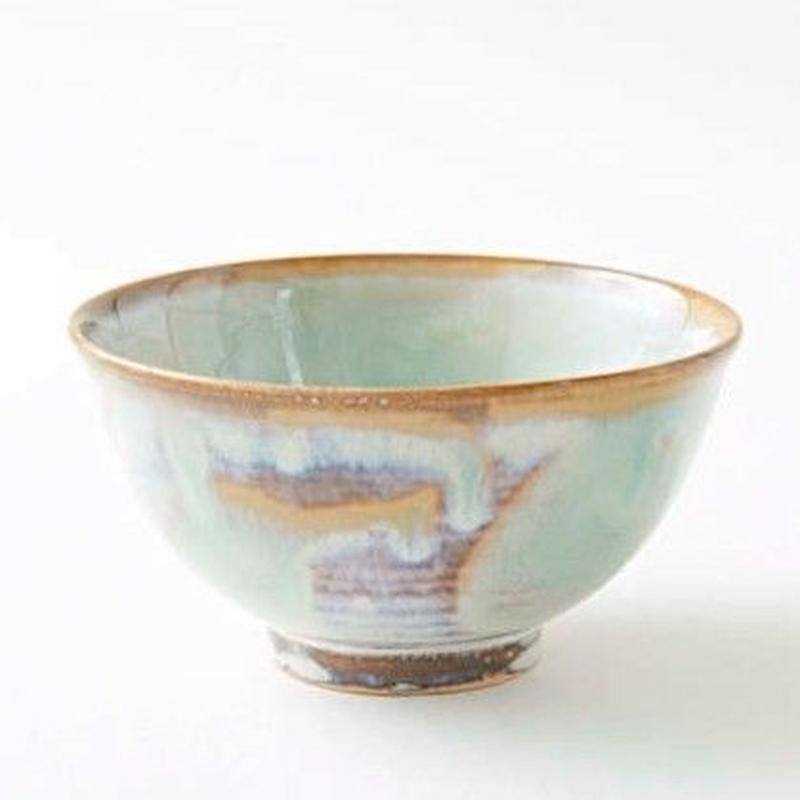 陶器 萩焼 和食器 作家 和モダン カフェ 飯碗 ご飯茶碗 小鉢 マーブル 緑 グリーン