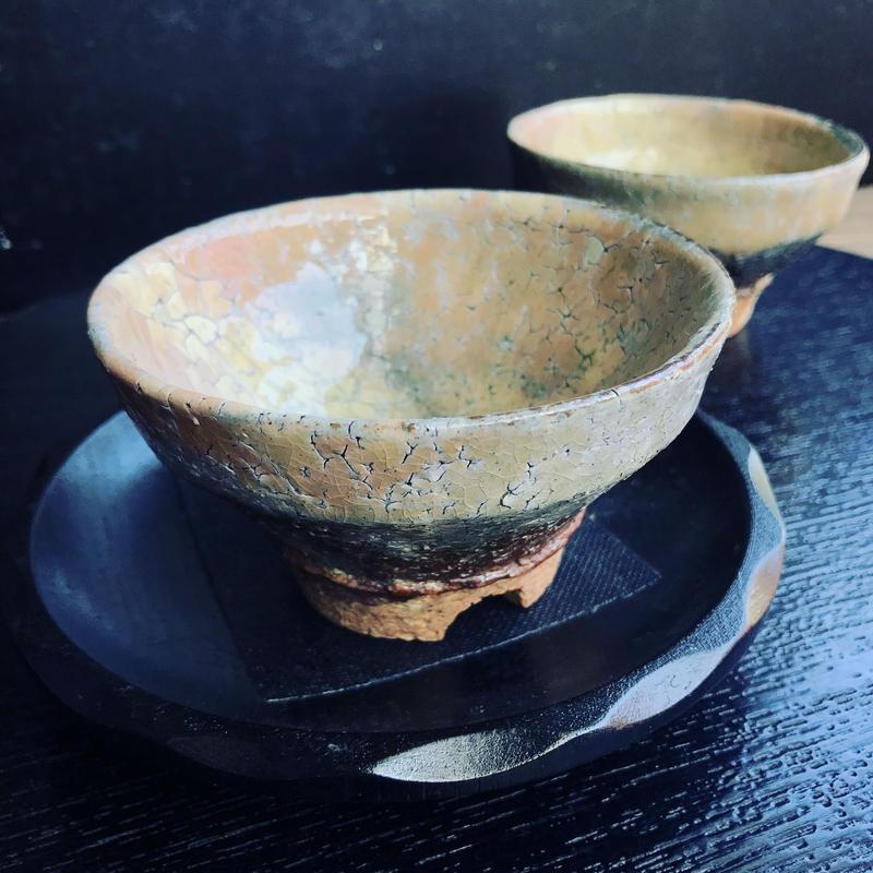 陶器 萩焼 和食器 作家 和モダン カフェ 小鉢  コーヒー碗 汲出し湯呑 2客 ペア セット