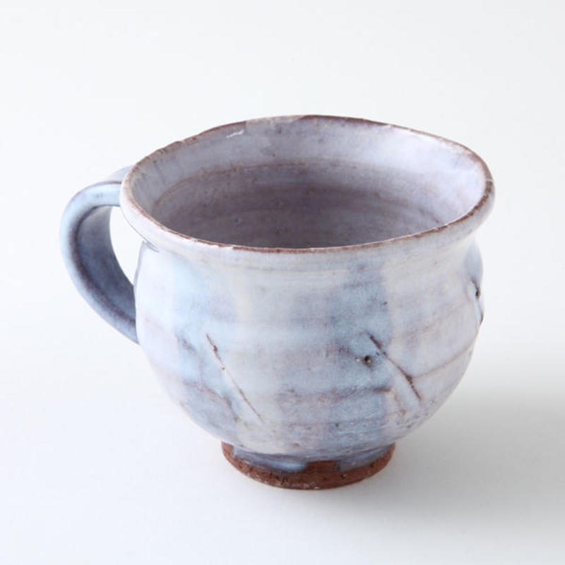 陶器 萩焼 和食器 作家 和モダン カフェ コーヒー マグカップC3 紫