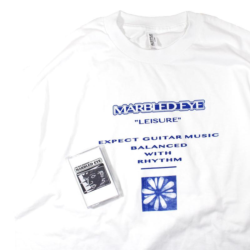 "MARBLED EYE ""Leisure""tshirts +cassette tape set"
