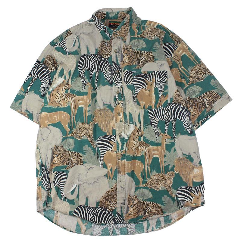 1990s Animal Printed Short Sleeve Shirts