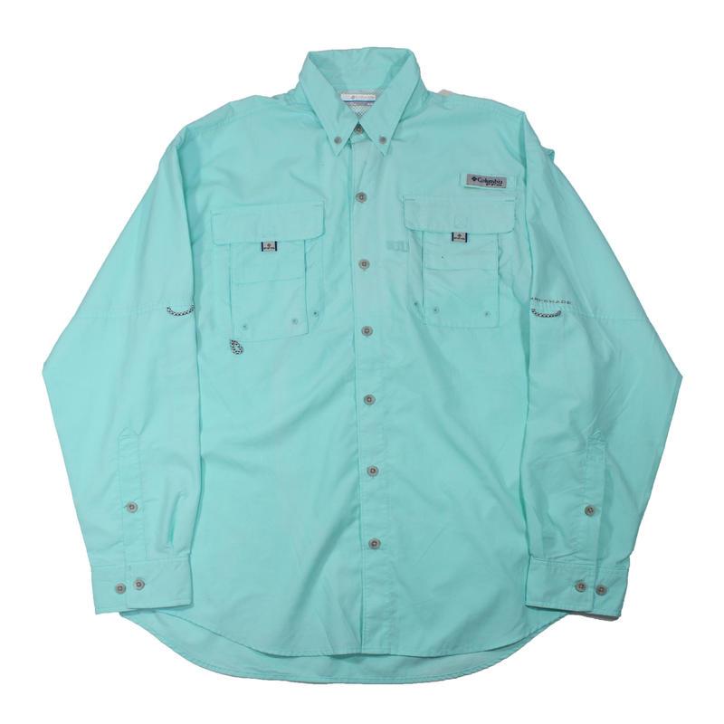 Columbia PFG Fishing Shirts (Turquoise)