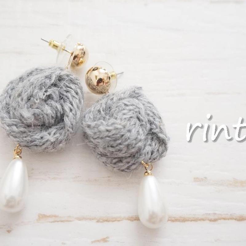 *最新作*Knit Pearlピアス