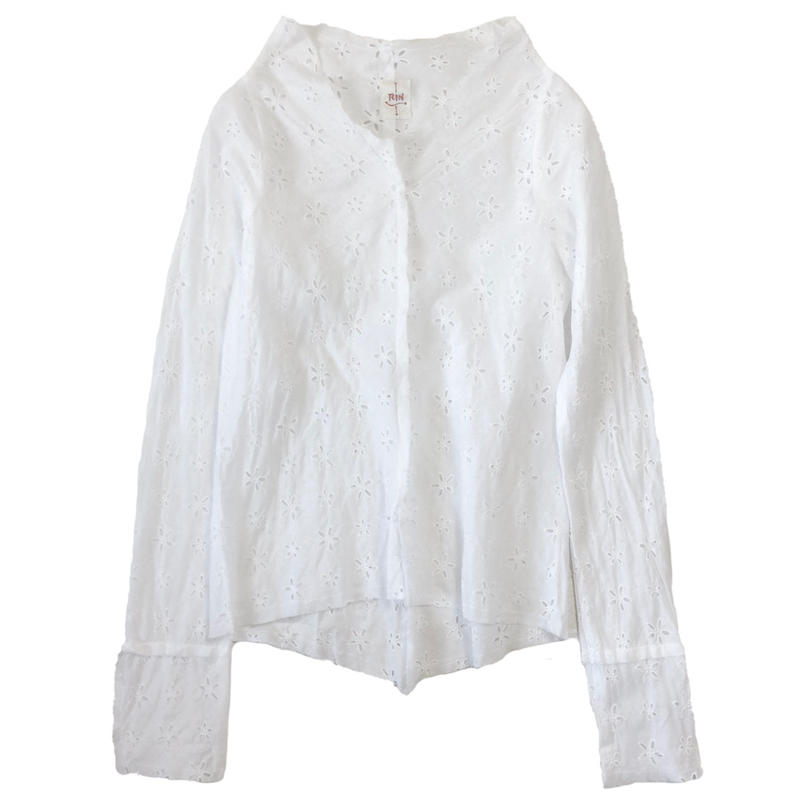 燐シャツ 長袖 〈白レース〉