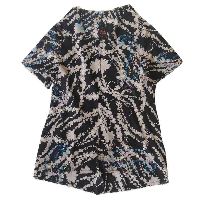 燐シャツ 半袖 〈ペイズリー〉
