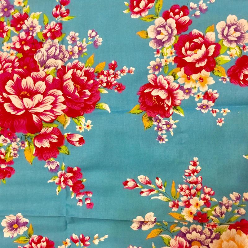 台湾花布 ブルー