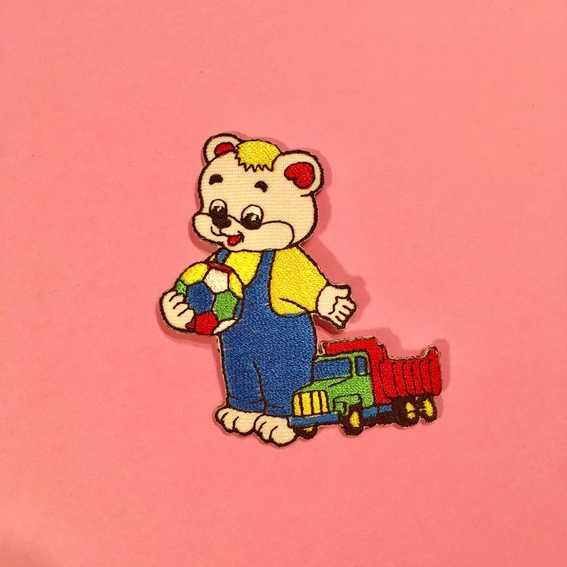 クマ カラフル アイロンワッペン Colorful bear patch