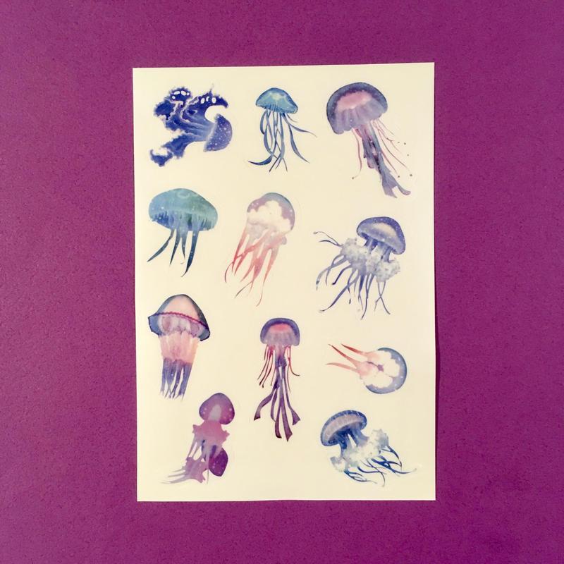 クラゲ シール ④ JELLYFISH STICKER