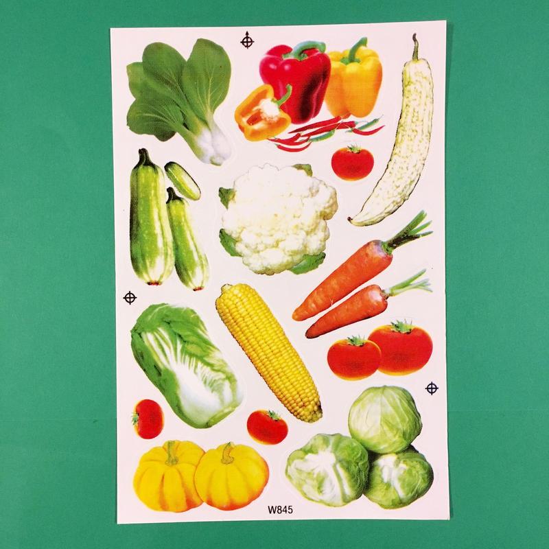 野菜 シール リアル VEGETABLE STICKER