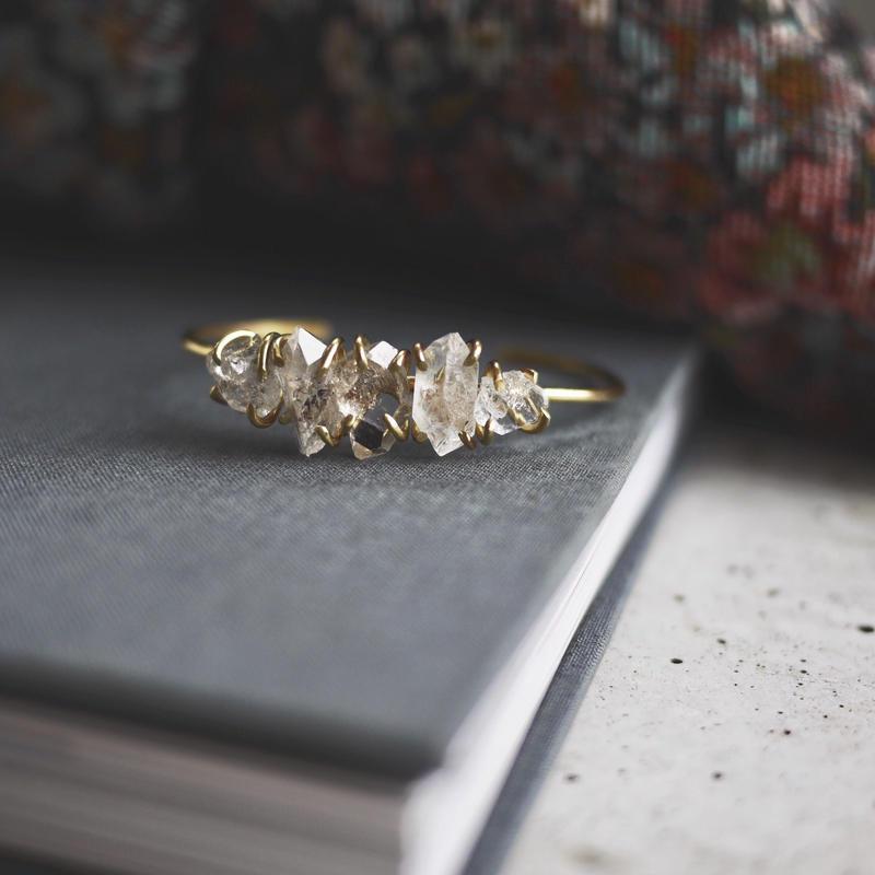 5 Harkimer diamond bangle