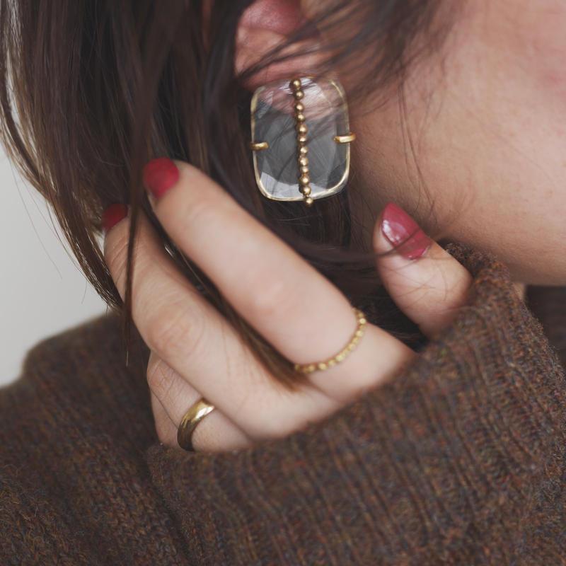 Crystal dot earrings