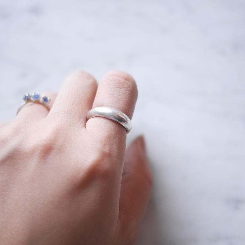 Silver950 simple ring