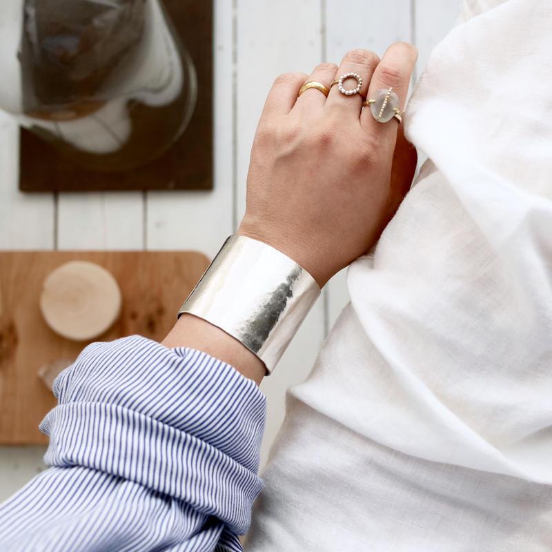 Silver950 wide bangle