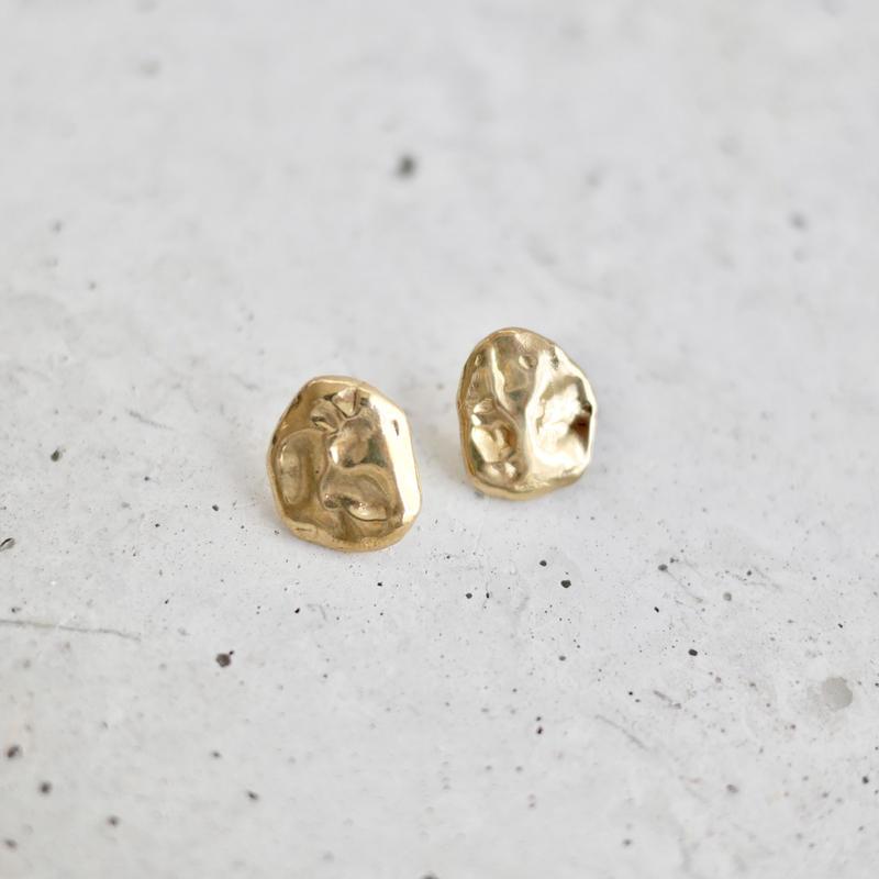 Flow earrings -gold-