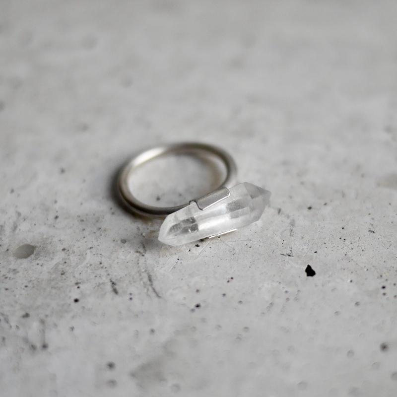 Crystal sword silver 925 ring