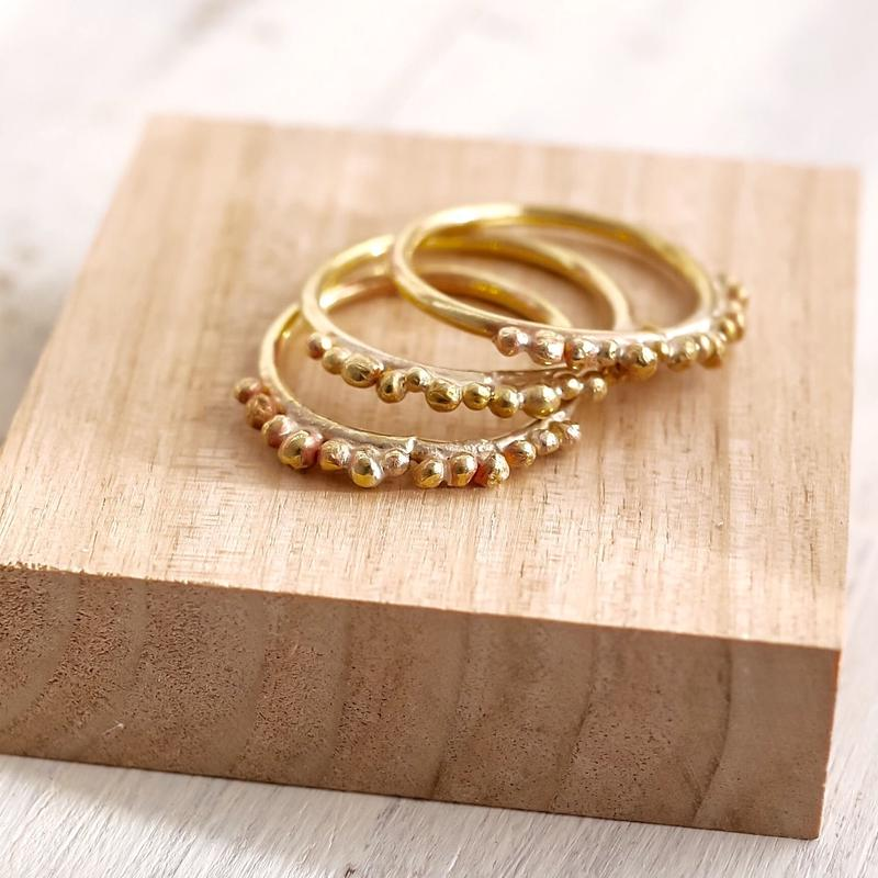 Brass dot ring