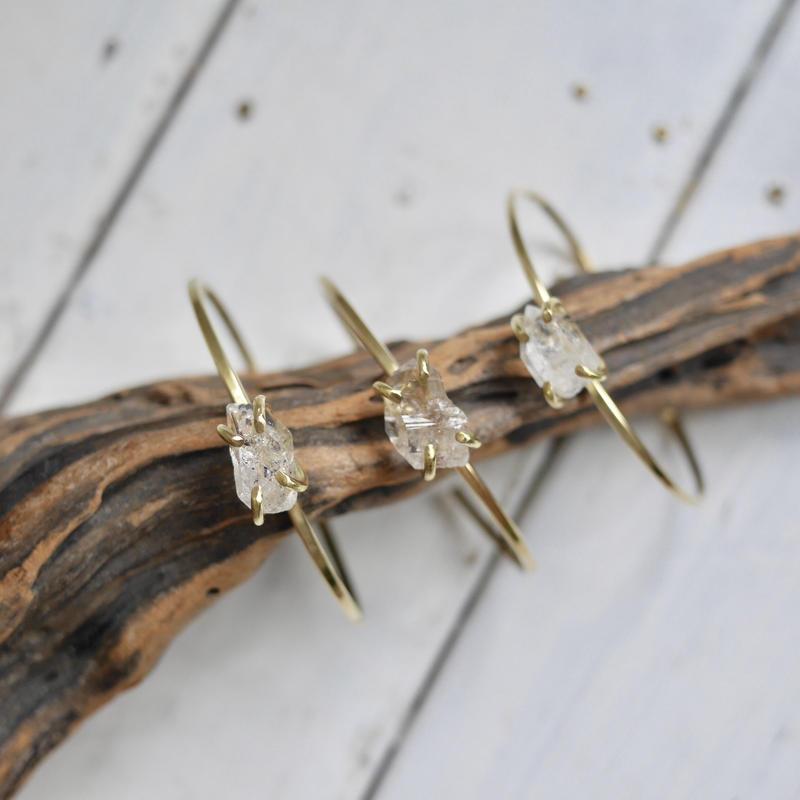 Tiny Harkimar diamond bangle