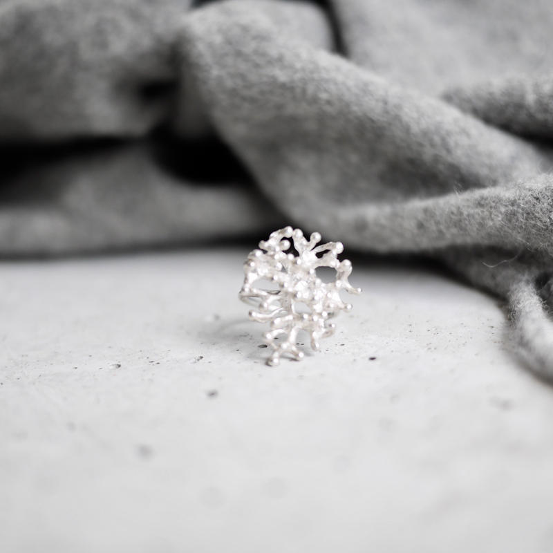 Coral 925 ring