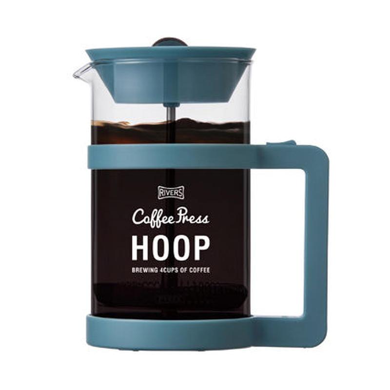 コーヒープレス フープ720  ライトブルー