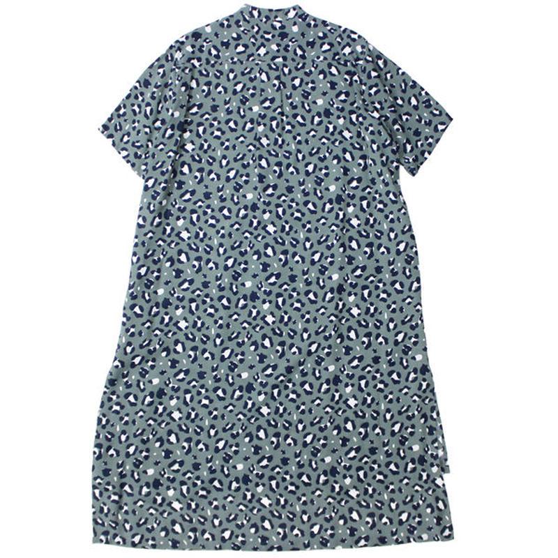"Ladies' /WELLDER(レディース ウェルダー)""Band Collar Half Sleeve Shirt Dress"""
