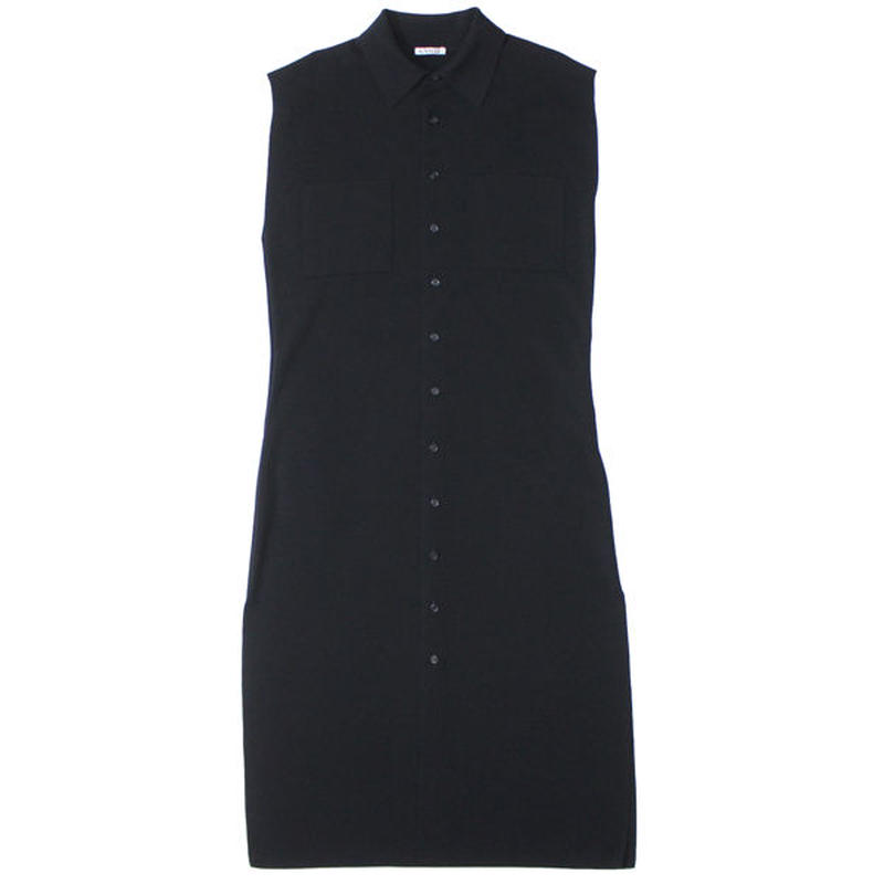 "Ladies' /AURALEE(レディース オーラリー)""WASHABLE WOOL RIB KNIT SLEEVELESS LONG ONE-PIECE"""