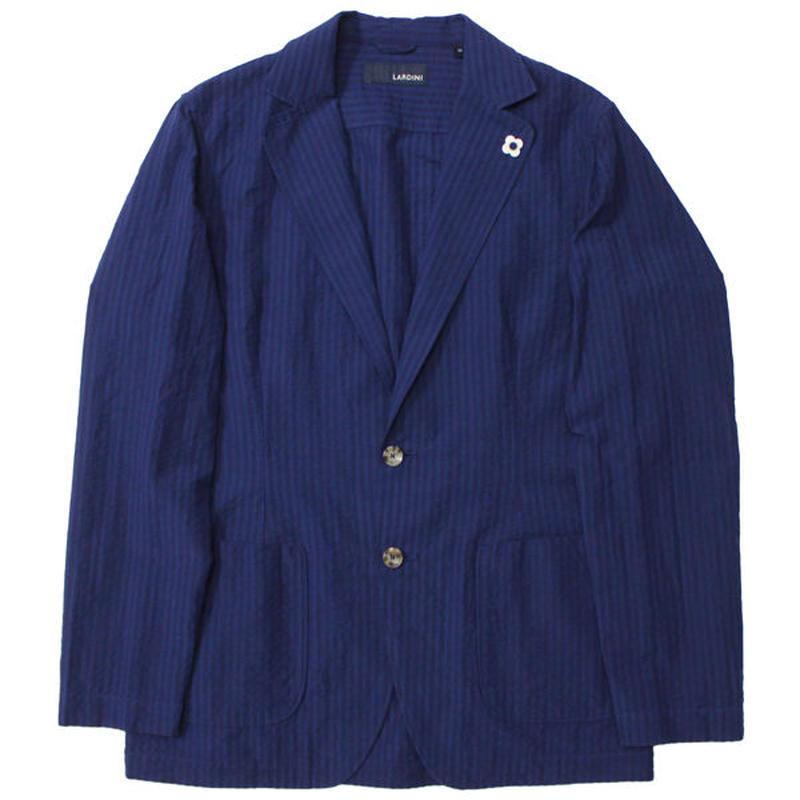 "LARDINI(ラルディーニ)""Seersucker 2B Shirt Jacket"""