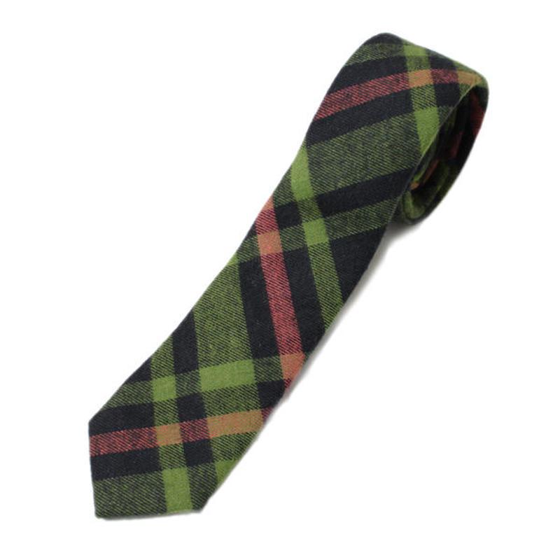 INDIVIDUALIZED SHIRT(インディビジュアライズドシャツ)-NECK TIE 1869 FLANNEL CHECK -055ABP
